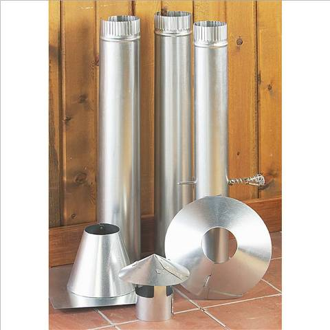 Nu-Way 3 inch vent kit wood propane LP fish house stove Complete Stovepipe Kit